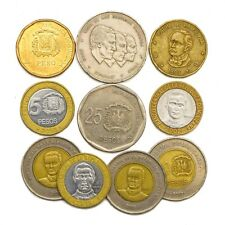 10 DOMINICAN REPUBLIC COINS FROM CARIBBEAN ISLAND OLD COLLECTIBLE COINS