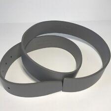 SHORT PAR 4 Gray Genuine Leather Adjustable Belt
