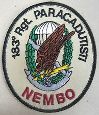 "Toppa/Patch Commemorativa ""183° REGGIMENTO PARACADUTISTI NEMBO"" - Desert"