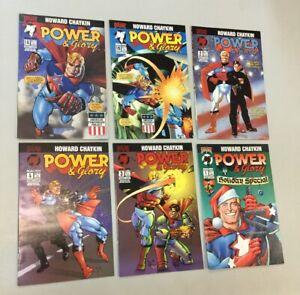 Power & Glory 1-4 Set & Holiday Special & 1B Malibu Comics Chaykin 1994 (PG06)