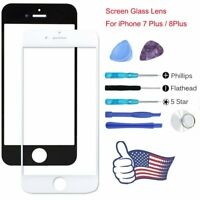 For iPhone 7 8 Plus Front Outer Glass Screen Replacement Lens Repair Tools Kit