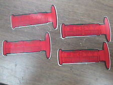 "Vintage NOS 2.5x4.5"" MX Red Scott Handlebar Grip Stickers Decals Graphics QTY4"