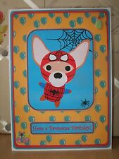 Handmade Chihuahua Superhero Birthday Card Dog Puppy Cartoon Happy Spiderman