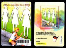 Italia 2019 - Lotta alla violenza sulle donne - tessera filatelica