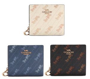 COACH Snap Wallet with Horse and Carriage Dot Print * ID Window * Brand New