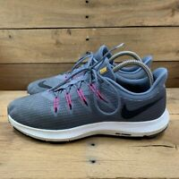 Nike Womens Quest Running Shoes Gray Low Top Lace Up Mesh Sneakers AA7412-003 10