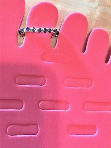 Blue Rhinestone SP Brass Stretch Toe Ring #921