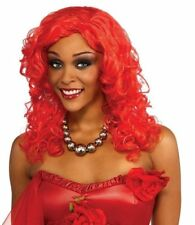 Rihanna Music Licensed Red Long Curly Wig Costume Halloween Music