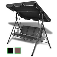 Outdoor Canopy Swing Chair Patio Backyard Seat Porch Furniture Black/Coffee