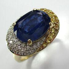 698 - Prachtvoller Saphir Brillant Ring aus Gold 585  -1491/581-