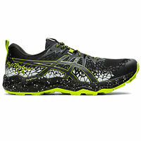 Asics Fujitrabuco Lyte Mens Trail Running Trainer Shoe Black/Green