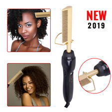 Electric Comb Straightener with High Heat Press, Friendly Titanium Alloy