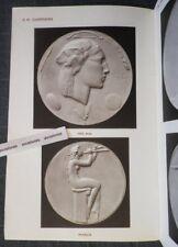 Rare Catalogue ARTHUS BERTRAND Médailles Dammann Turin Bouchard Bronze ART DECO