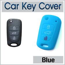 SILICONE Car Key Cover Fits KIA SPORTAGE RIO SORENTO SOUL AMANTI PICANTO SkyBlue