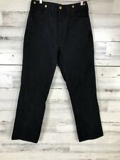 Vintage Carhartt 36x34 Union Made USA Pants Suspender Buttons Black Cotton wu219