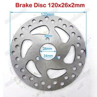 120mm 26mm Brake Disc Rotor 47cc 49cc Gas Scooter Mini Dirt Pocket Bike Quad ATV