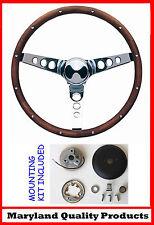 "AMX Hornet Gremlin Javelin GRANT Steering Wheel Wood Walnut 13 1/2"""