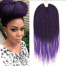 "18"" Ombre Purple Crochet Braids Kanekalon Braiding Hair  Senegalese Twist Hair"