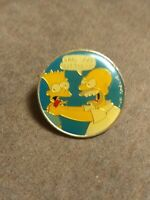Vintage Bart Homer Simpsons Cartoon Pin 1990 Why You Little Matt Groening