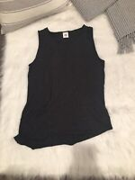 Cabi Women's Solid Dark Gray Casual Scoop Neck Tank Top Size 10 (EUC)