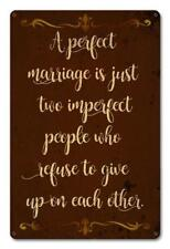 A Perfect Marriage Country Wall Decor Religious Kitchen Rustic Metal Sign PTS841
