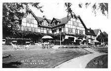 Del Mar California Hotel Courtyard Real Photo Antique Postcard K29977