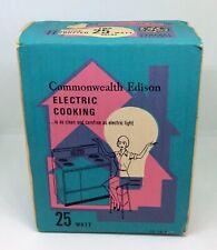 Vintage General Electric 25 Watt 120 Volt Commonwealth Edison Lightbulbs RARE