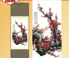 Home Decoration Chinese silk scroll painting Plum Blossom Gongbi painting S138