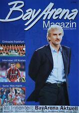 Programm 2000/01 Bayer 04 Leverkusen - Eintracht Frankfurt