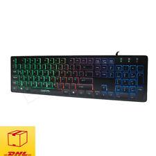 LogiLink ID0138 Beleuchtet Tastatur Regenbogen PC Keyboard USB Deutsches Layout