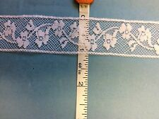 FRENCH LACE #176/929 WHITE INSERTION 1 INCH WIDE LACE-  BY THE YARD