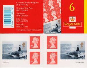 GB 2001 Submarines Stamp Booklet SG PM2 Cat £70