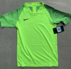 Nike youth Soccer Vaporknit Yellow Shirt AQ2711 size Medium