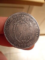 CHARLES 1st HAMMERED CROWN 1631/32 Tower Mint,Group 2b mm rose over plume.,