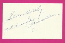 CLAUDE PASSEAU Autograph PSA/DNA CERTIFIED INDEX Auto 1945 WS HERO Cubs Signed
