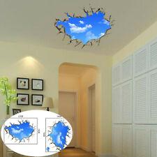 Sky 3D Broken Wall Mural Removable Wall Art Sticker  Vinyl Decal Room Decor
