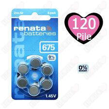 120 Batterie Pile per apparecchi acustici RENATA MARATONE ZA 675