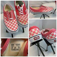 Vans Lace Skateboard Shoes Sz 9.5 Men 11 Women Pink Checker Mint YGI H0S-48