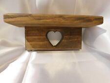 Wooden Heart Shelf