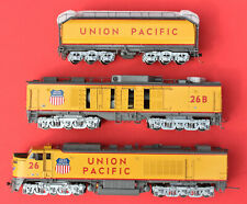 S-Scale River Raisin Union Pacific Up 3-Unit Gas Turbine Version 2, Scale Wheels