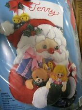"Bucilla Christmas Felt Applique Stocking Kit,ARMFUL OF TOYS,Garbrandt,18"",83112"