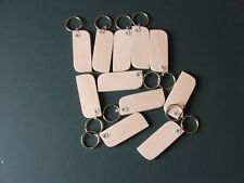 KEYRING BLANKS-BEECH HARDWOOD-PYROGRAPH-ENGRAVE/Stain-£6.95 FOR 12-POST FREE