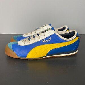 Puma Roma 68 (Blue/Yellow) Size 9.5