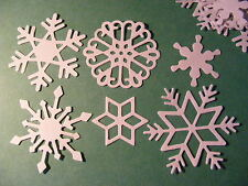 Snowflakes Snow Flakes Winter Season Christmas Yule Die Cuts (Toppers)