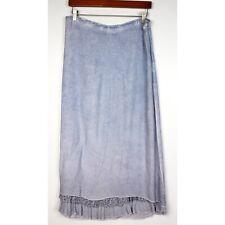 SAGA size 1 Blue Ombre Maxi Skirt Ruffle Hem Boho