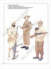 PLANCHE UNIFORMS PRINT WWII British Army India Armée Indienne Inde Indes UK