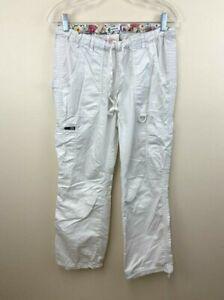 Koi S Solid White Lindsey Scrub Pants Uniform Bottoms 701 Small Regular