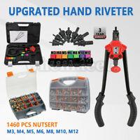 USA 1460pcs Rivet Nut Gun Kit Rivnut Tool Nut Setter Thread Setting Nutsert Sae