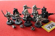 Games Workshop Warhammer 40k Kasrkin Stormtroopers Squad Metal 11 Figures OOP