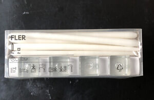 IKEA Fler 4 Candle Holders with White Candles NEW IN BOX!